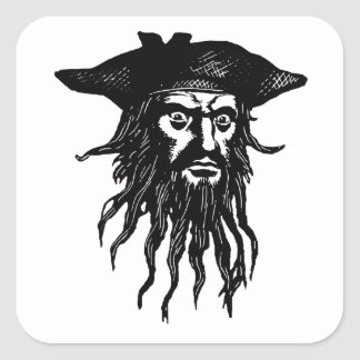 Blackbeard the Pirate Square Sticker