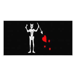 Blackbeard-White Photo Card Template