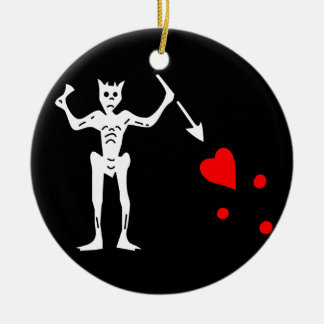 Blackbeards Flag Ceramic Ornament