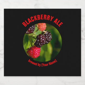Blackberry Ale & Ripening Blackberries Beer Bottle Label
