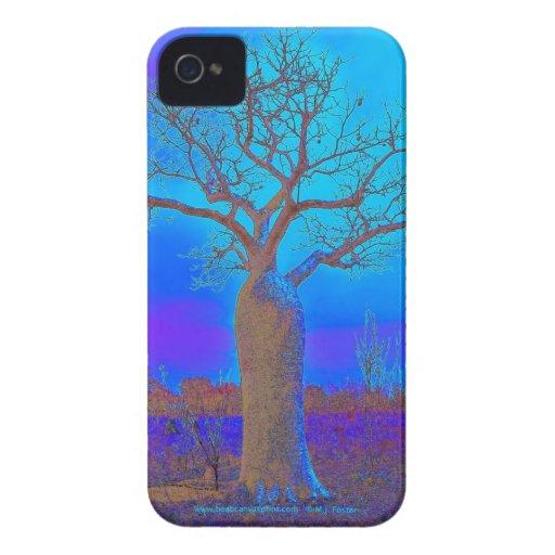 Blackberry Bold Case - Elegant Blue Boab Tree