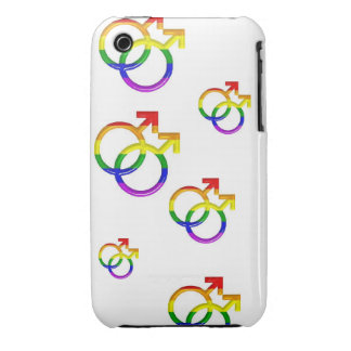 """BlackBerry Bold Cover    """"Intertwined Gay Symbols"""""""