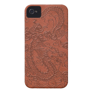 BlackBerry Bold Dragon red-earth leather texture iPhone 4 Case