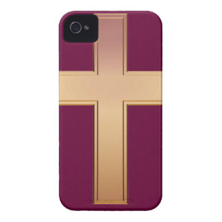 Blackberry Bold Gold Cross Case Case-Mate iPhone 4 Case