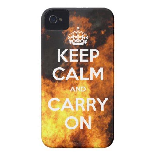 BlackBerry Bold Keep Calm On Fire Case-Mate Blackberry Case