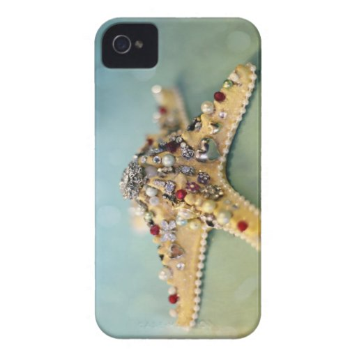 Blackberry bold phone case jeweled starfish blackberry case