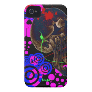 Blackberry bold - Psychedelic Retro Skulls iPhone 4 Cases