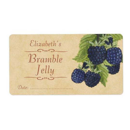 Blackberry Canning label
