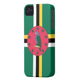Blackberry Case-Dominica Flag iPhone 4 Covers