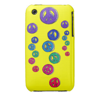 Blackberry Case- Groovy Peace signs iPhone 3 Case-Mate Case