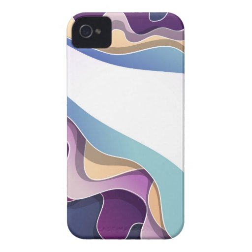 Blackberry case with abstract design