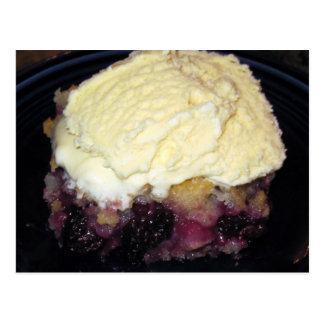 Blackberry Cobbler Recipe Card Postcard