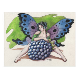 Blackberry Fairy Postcard