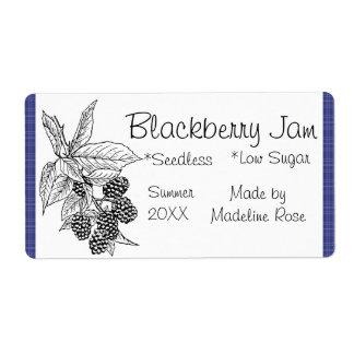 Blackberry Jam Jar Label (Custom) Shipping Label