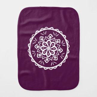 Blackberry Mandala Burp Cloth