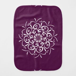 Blackberry Mandala Burp Cloth