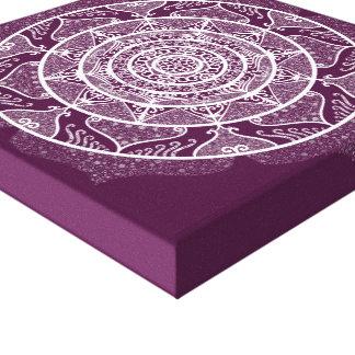 Blackberry Mandala Canvas Print
