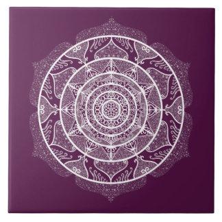 Blackberry Mandala Ceramic Tile