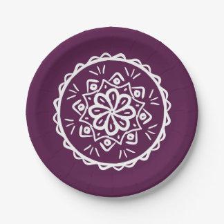 Blackberry Mandala Paper Plate