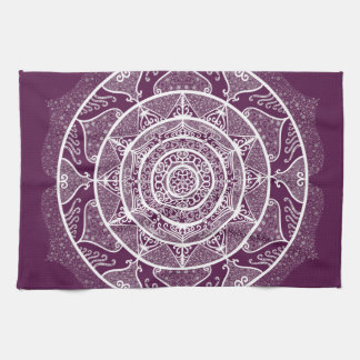 Blackberry Mandala Tea Towel