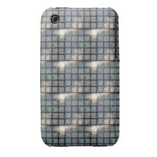 Blackberry Phone Case with Square Grid Design iPhone 3 Cover