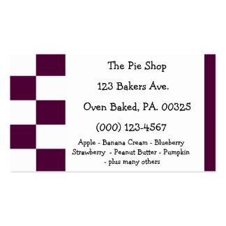 Blackberry Pie Colors Business Card