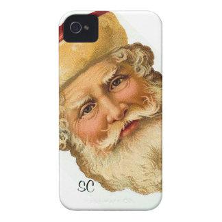 Blackberry - Vintage Santa Claus illustration iPhone 4 Cover