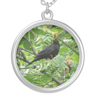 Blackbird and Berries Necklace