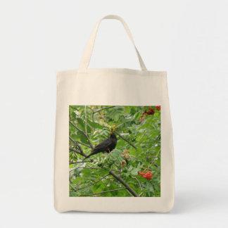 Blackbird and berries Organic Grocery Tote bag