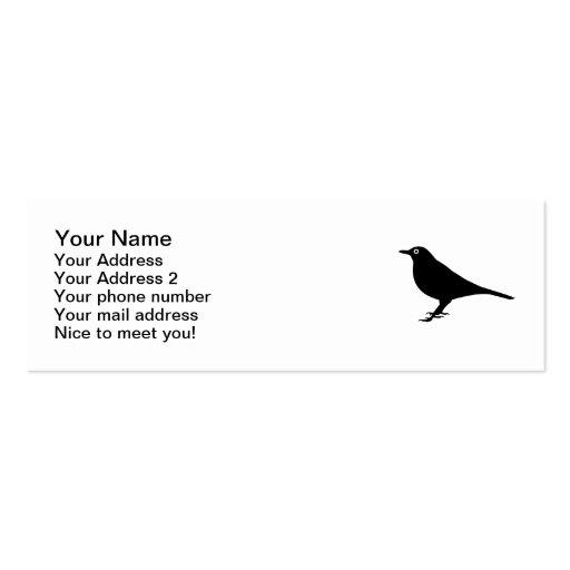 Blackbird bird business card
