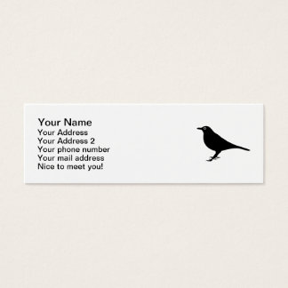 Blackbird bird mini business card