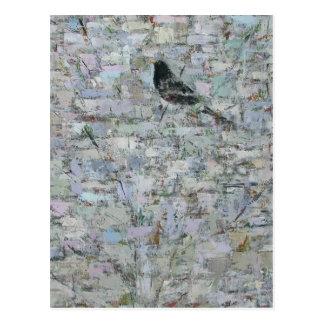 Blackbird in Tree 2012 Postcard