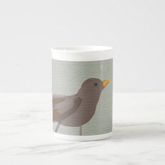 Blackbird minimal Art Siradesign Bone China Mug