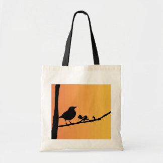 Blackbird Silhouette Tote Bag