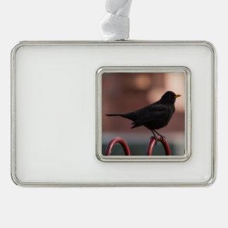 Blackbird Silver Plated Framed Ornament
