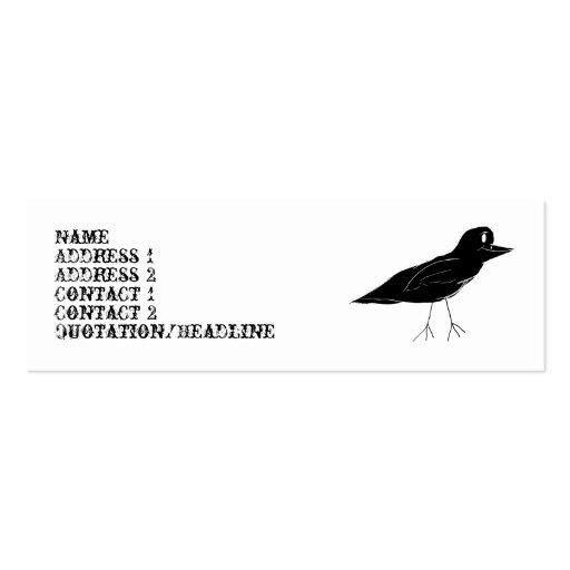 Blackbird Skinny Business Card (White)