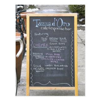 Blackboard at Tazza D'Oro Post Cards