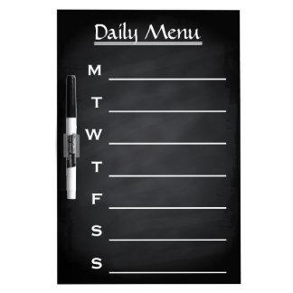 Blackboard Chalkboard Daily Menu Weekly Menu