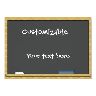 Blackboard Greeting - Customizable Card