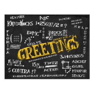Blackboard Postcard from The Dorm