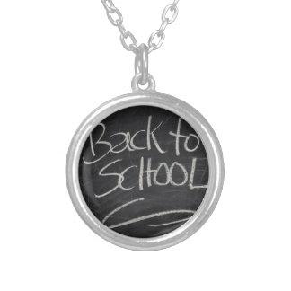Blackboard Silver Plated Necklace