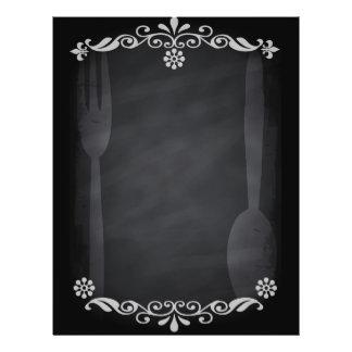 Blackboard Sketch Menu Food Fork Spoon 21.5 Cm X 28 Cm Flyer