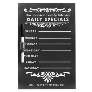 Blackboard Weekly Dinner Menu