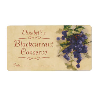 Blackcurrant Canning label Shipping Label