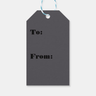 Blackened Pearl Gray Color Gift Tags