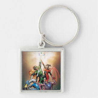 Blackest Night Cover Silver-Colored Square Key Ring