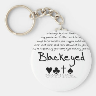 "Blackeyed ""Heart, Club, Odd Man Out, Spade"" Chain Basic Round Button Key Ring"