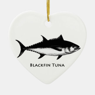 Blackfin Tuna (illustration) Ceramic Ornament