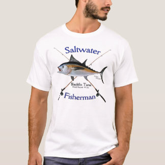 Blackfin Tuna Saltwater fisherman tshirt