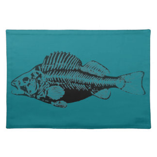 BlackFish Teal Background Placemat